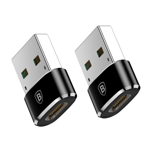 Baseus (2-Pack) 5A USB-A (Male) to USB-C Type-C (Female) Adapter